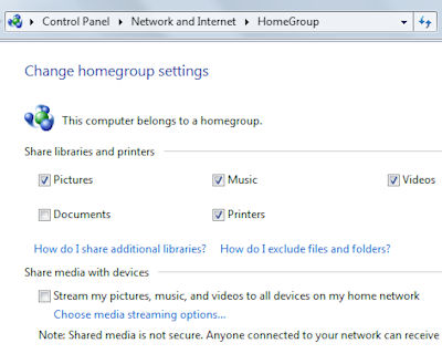 Microsoft HomeGroup