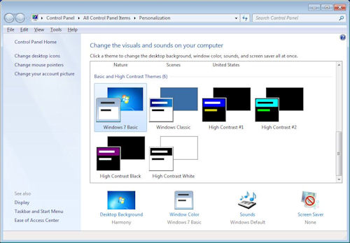 Personalize Windows 7